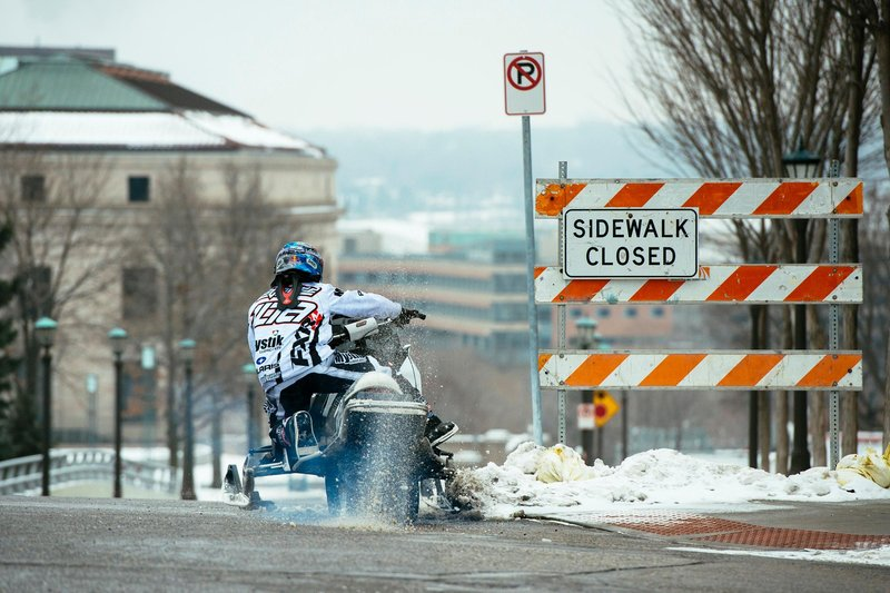 Levi LaVallee during Red Bull Frozen City in Saint Paul, MN on January 24, 2016